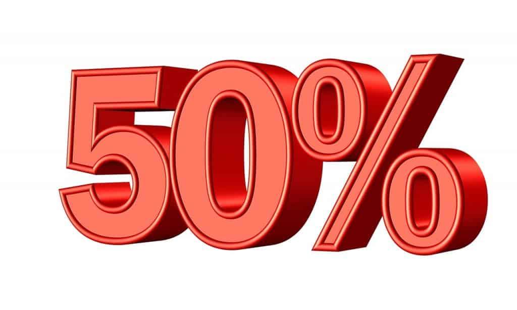 חמישים אחוז